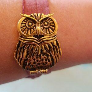 Owl Ponytail Holder -Bracelet - Owl Hair Scrunchie